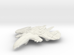 Romulan WarEagle Class Cruiser in White Natural Versatile Plastic