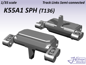 1/35 K55A1 SPH Track Links semi-connected  in Frosted Ultra Detail