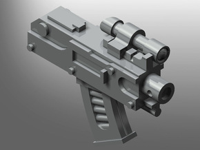 Human-sized Thunder-Rifle in Smooth Fine Detail Plastic: Small