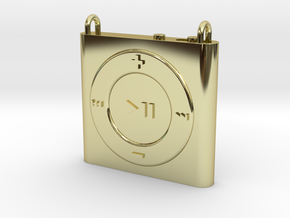 Pendant iPod Shuffle in 18k Gold Plated Brass