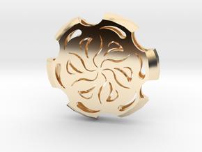 Holllow Medallion  in 14k Gold Plated Brass
