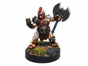Dwarf Barbarian in Smooth Fine Detail Plastic