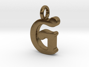 G - Pendant - 2mm thk. in Natural Bronze