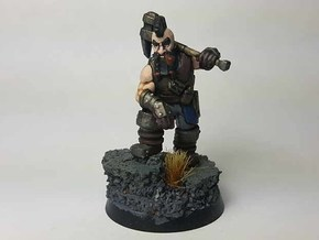 Dwarf Fighter in Smooth Fine Detail Plastic