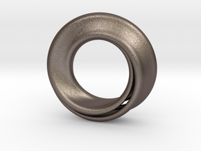 Mobius Strip in Polished Bronzed Silver Steel