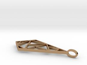 Minimalist Geometric Pendant in Polished Brass