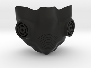 breathing mask in Black Natural Versatile Plastic