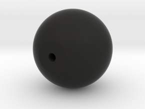monk beads hollow version in Black Natural Versatile Plastic