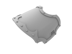 Knight - Left Hand Blank Claw Cover  in Smooth Fine Detail Plastic