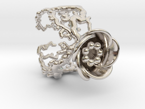 Half open flower ring (US sizes 10 – 13) in Rhodium Plated: 10 / 61.5