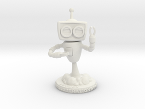 Denny & Co. BotBot Robot in White Natural Versatile Plastic