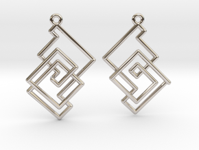 Cobweb Earrings in Rhodium Plated Brass