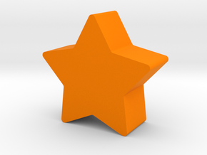 Star Game Piece in Orange Processed Versatile Plastic