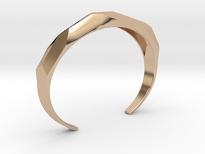 faceted cuff bracelet in 14k Rose Gold Plated Brass