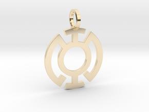 Blue Lantern Pendant in 14K Yellow Gold