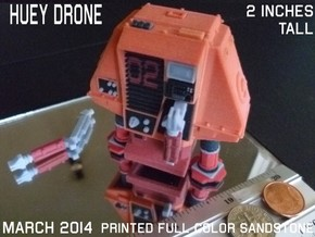 2 Inches DRONE 2 HUEY Full Color in Sandstone