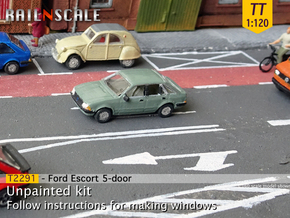 Ford Escort 5-door (TT 1:120) in Smooth Fine Detail Plastic