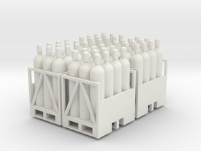Acetylene Tanks On Pallet 4 pack 1-50 scale in White Natural Versatile Plastic