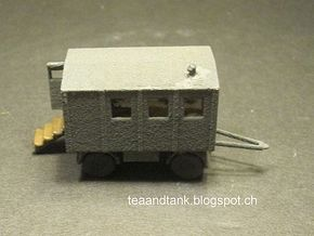 1/144 German kitchen trailer in White Natural Versatile Plastic