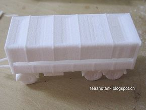 1/144 7 ton 3 axis trailer (German Wehrmacht) in White Natural Versatile Plastic