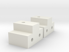 CMX Chassis Servo Mounts in White Natural Versatile Plastic