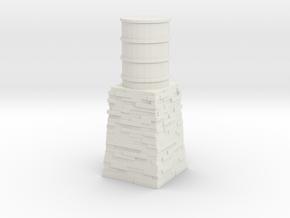 OO9 Skarloey / Talyllyn Water Tower Type 1 in White Natural Versatile Plastic