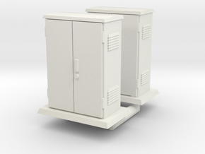 Padmount  Electrical Box 01. O Scale (1:43) in White Natural Versatile Plastic