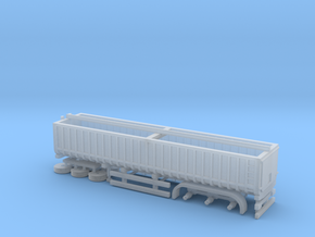 N Gauge Articulated Lorry Grain Trailer in Frosted Ultra Detail