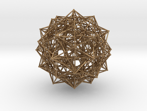 Grand 600-cell, small spheres in Natural Brass