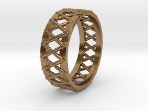 Knitted Ring-15 mm in Natural Brass