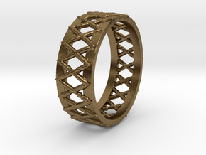 Knitted Ring-15 mm in Natural Bronze