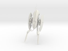Turret - Portal 2 game PC - Large 145mm tall in White Natural Versatile Plastic: 15mm