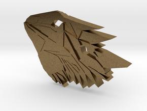 Bearded Dragon Pendant in Natural Bronze