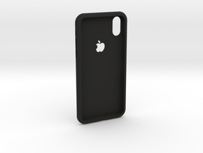 iphoneX case in Black Natural Versatile Plastic