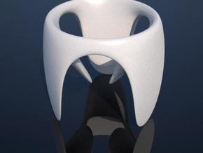 Contemporary Eggcup in White Natural Versatile Plastic