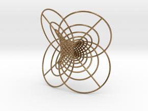 Hopf-12 circles in Natural Brass