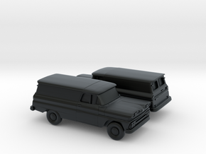 1/160 2X 1960/61 Chevy PanelVan Horizontal Devided in Black Hi-Def Acrylate