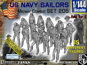 1-144 USN Midway set 205 in Smooth Fine Detail Plastic