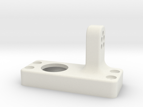 Driver side differential-front-upper-link-mount in White Strong & Flexible