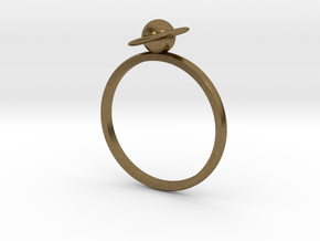 Planet Saturn Ring  in Natural Bronze