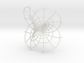 Hopf Fibration in White Natural Versatile Plastic