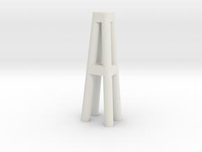 Duckdalben 4er rund mit Innenstreben 1:120 in White Natural Versatile Plastic