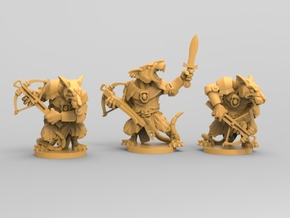 Elite Rat Pack - Mice and mystics in White Natural Versatile Plastic
