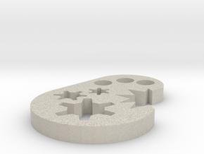 Keychain in Natural Sandstone