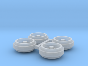 1/64 60s/70s Steel Rims (1 Set) in Smooth Fine Detail Plastic