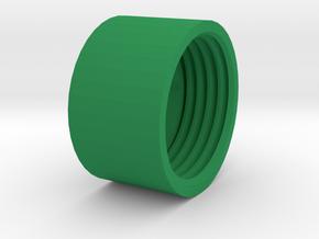 Shock_Cord_Anchor_Cap_Nut in Green Processed Versatile Plastic