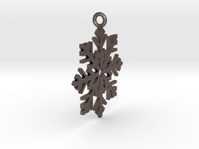 Snow Fall in Polished Bronzed Silver Steel
