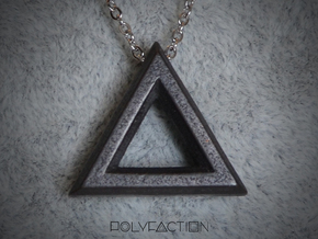 Chisel ::: Triangle Pendant ::: v.01 in Polished and Bronzed Black Steel