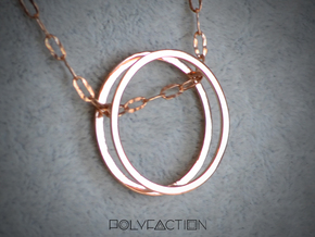 Wire ::: Circle Pendant ::: v.01 in 14k Rose Gold Plated Brass