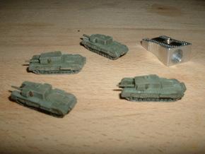 "Churchill A22D 3"" Gun Carrier 1/285 6mm in Smooth Fine Detail Plastic"